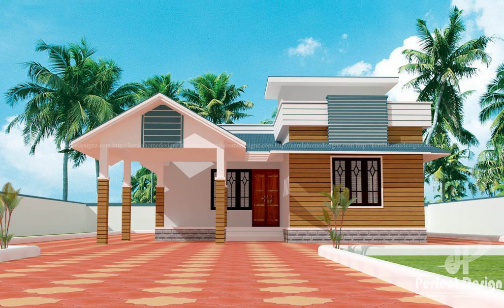 Contemporary Single Floor Home In 1350 Sq Ft: 1075 Square Feet 2 Bedroom Single Floor Modern Beautiful