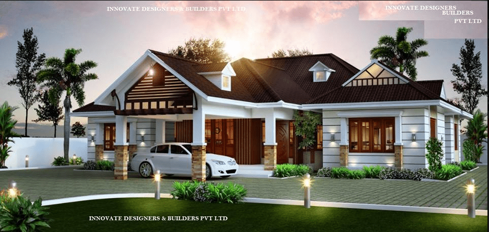 1663 Square Feet 3 Bedroom Single Floor Modern Home Design and Plan