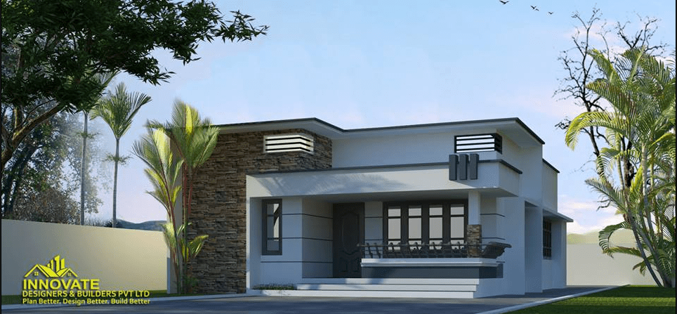 612 Square Feet 2 Bedroom Modern Contemporary Home Design and Plan ...