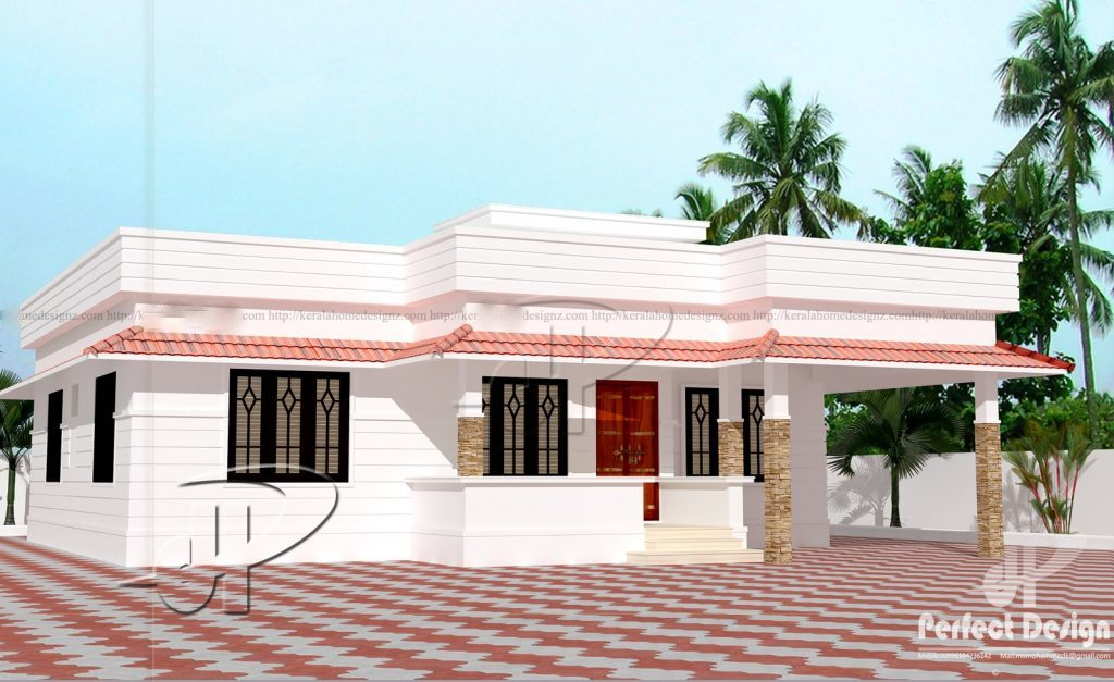 851 Square Feet 2 Bedroom Single Floor Modern Home Design and Plan