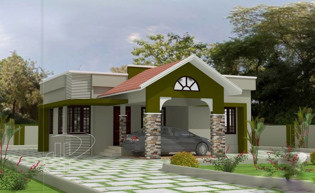 930 Square Feet 2 Bedroom Single Floor Modern Home Design and Plan