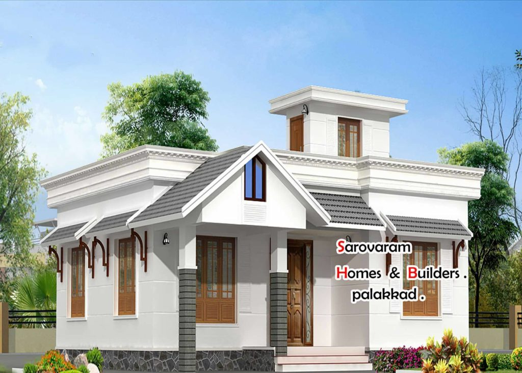 Low budget 2 bedroom single floor beautiful home design for Low budget house design