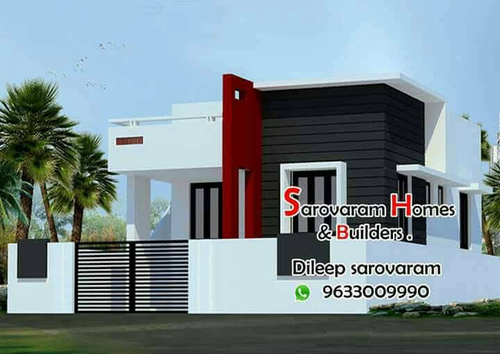 Low Budget 2 Bedroom Single Floor Modern Home Design