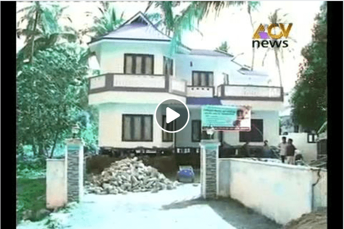 Extremely hariyana workers hauled the two-story home from the ground. The incident happened in Thrissur