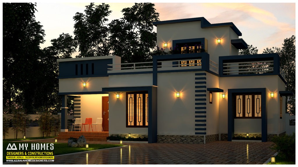 975 square feet 2 bedroom single floor modern budget home for Cost to build a 576 sq ft house