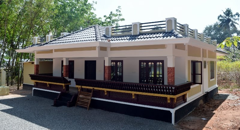 1250 Square Feet 3 Bedroom Single Floor Low Budget Home Design