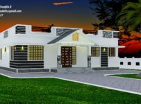 1300 Square Feet 3 Bedroom Single Floor Modern Home Design and Plan