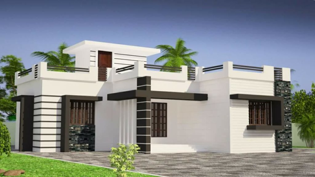853 square feet 2 bedroom single floor low cost modern Low cost modern homes