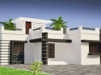 853 Square Feet 2 Bedroom Single Floor Low Cost Modern Home Design and Plan
