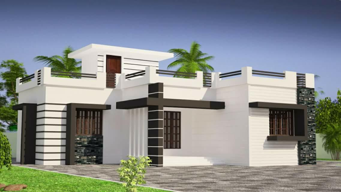 853 Square Feet 2 Bedroom Single Floor Low Cost Modern Home Design and Plan 1 - 11+ Modern Two Bedroom Low Cost Small House Design PNG