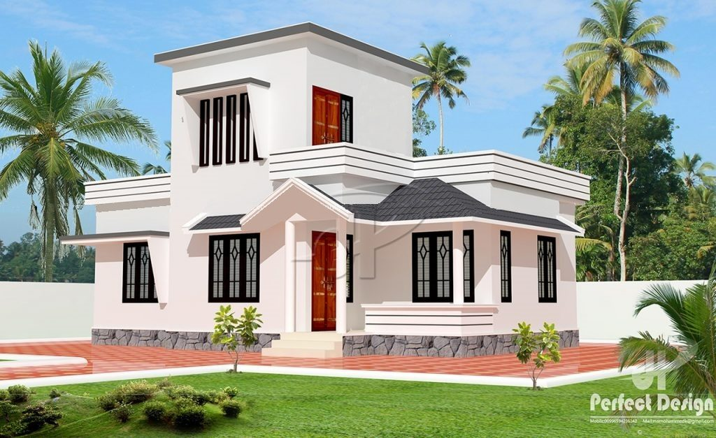 775 square feet 2 bedroom single floor modern low budget for Low budget modern 3 bedroom house design