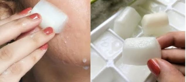 Rice Water ice cubes