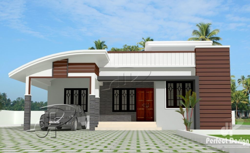 1000 Square Feet 3 BHK Modern Home Design And Plan