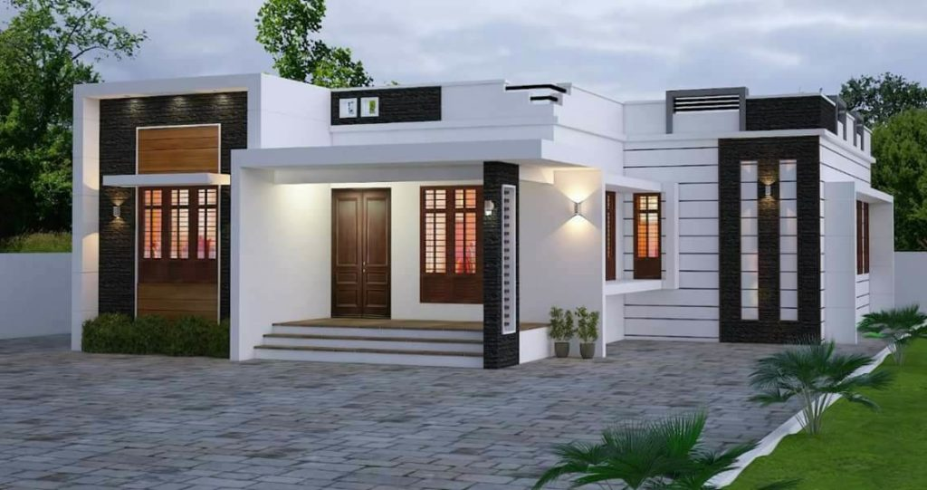 1050 Square Feet 2 Bedroom Single Floor Contemporary Style Home ...