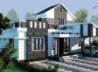 1150 Square Feet 3 Bedroom Single Floor Modern Home Design and Plan
