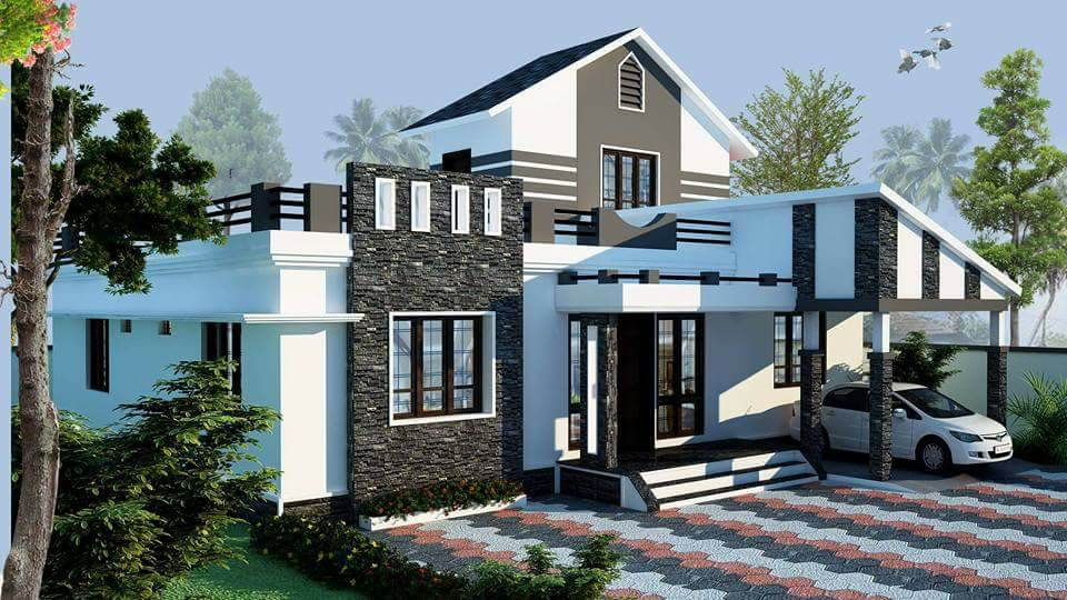 1150 Square Feet 3 Bedroom Single Floor Modern Home Design and Plan