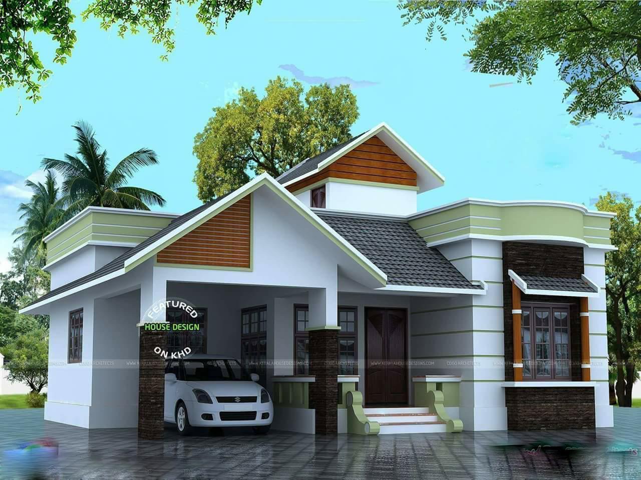 1190 Square Feet 2 Bedroom Single Floor Modern Home Design and Plan
