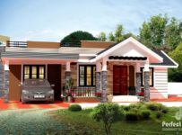 1226 Square Feet 3 Bedroom Modern Single Floor Home Design and Plan