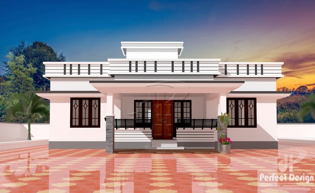 1250 Square Feet 3 Bedroom Contemporary Single Floor Modern Home Design And  Plan