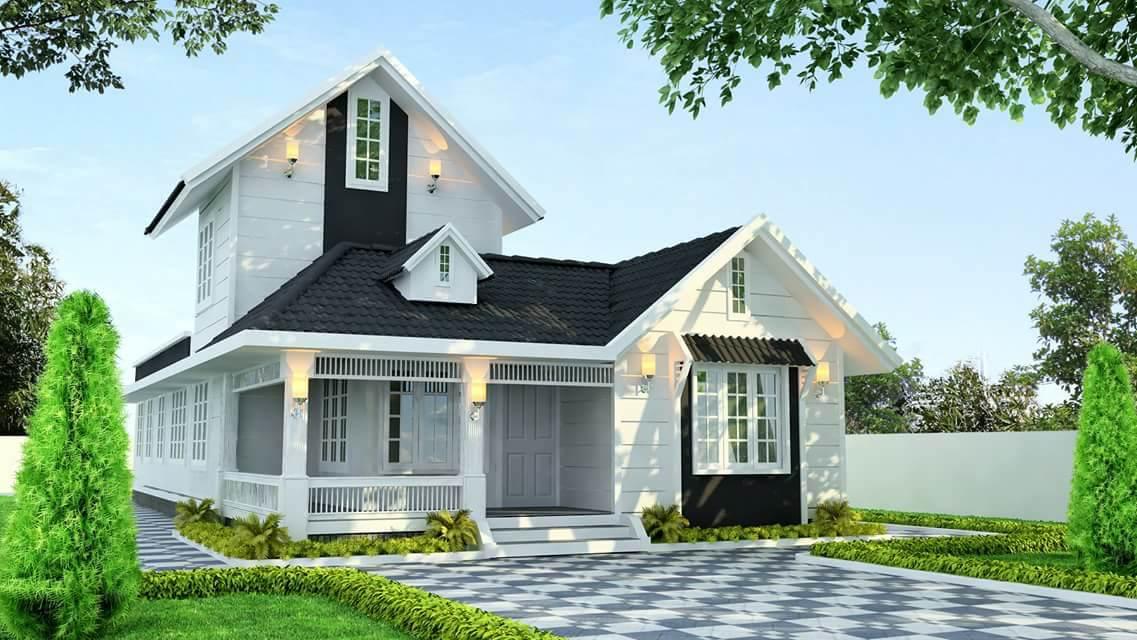 1500 Square Feet 3 Bedroom Single Floor Modern Home Design and Plan