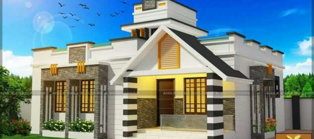 990 Square Feet 2 Bedroom Single Floor Modern Home Design and Plan