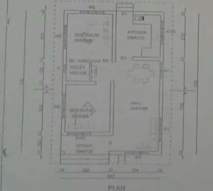 680 square feet 2 bedroom low budget house design and plan for 680 square feet house plan