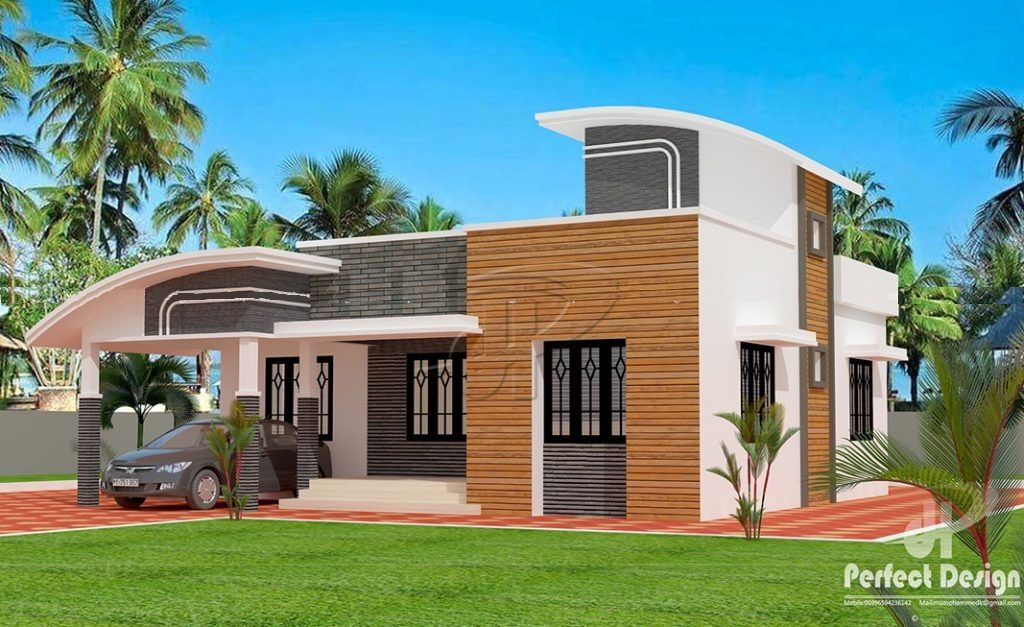 1001 Square Feet 3 Bedroom Single Floor Modern House Design and Plan