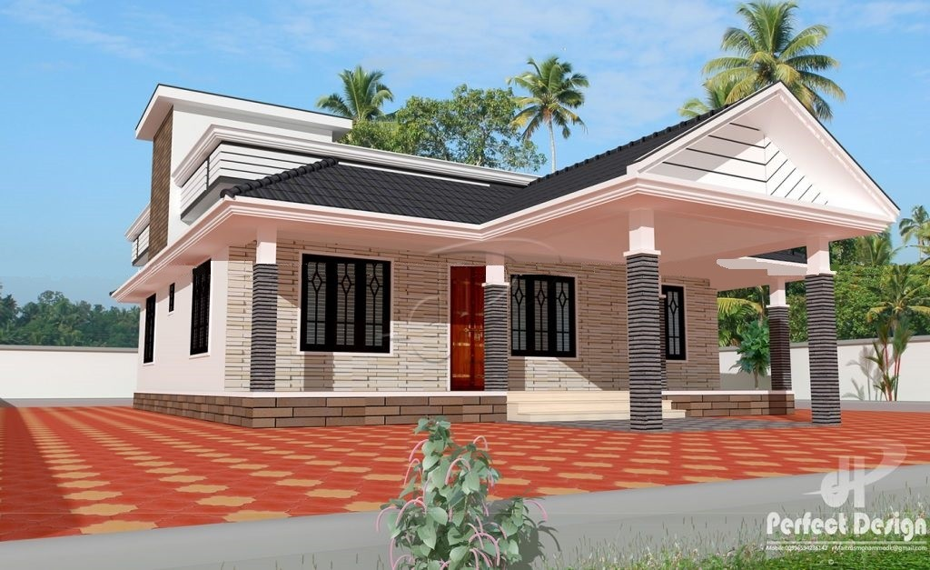 1184 Square Feet 3 Bedroom Low Budget Home Design and Plan