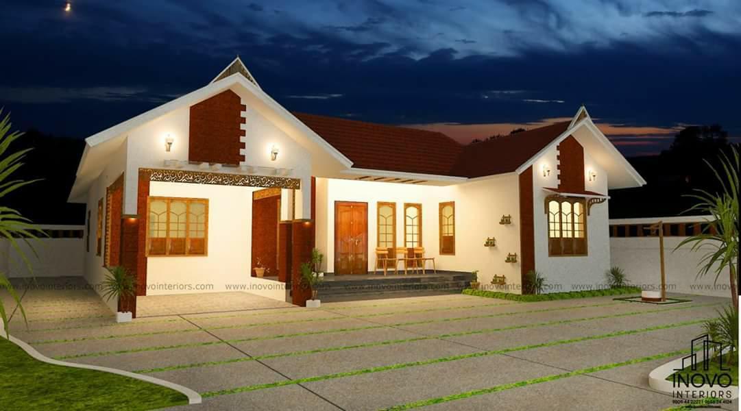 1200 Square Feet 3 Bedroom Single Floor Modern Home Design and Plan