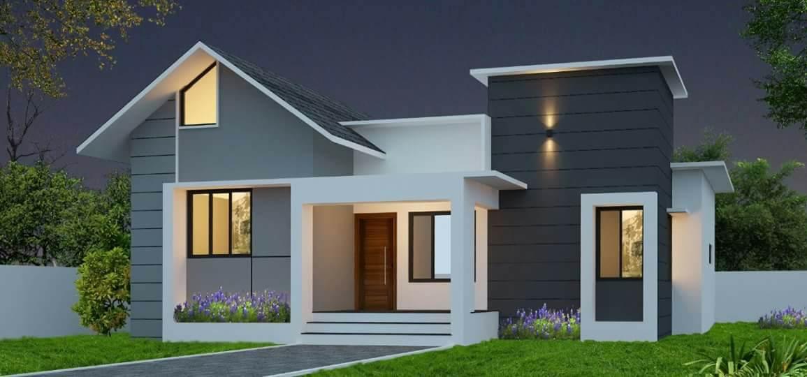 1200 Square Feet 3 Bedroom Single Floor Modern Home Design