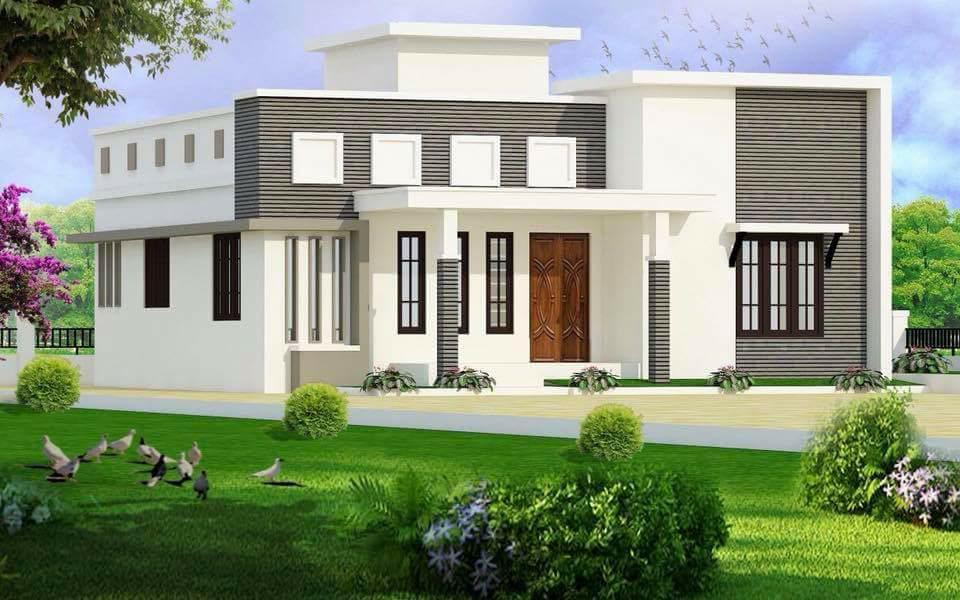1235 Square Feet 3 Bedroom Single Floor Modern Home Design and Plan