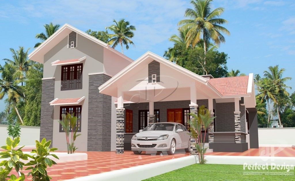1330 Square Feet 3 Bedroom Slop Roof Modern Home Design and Plan