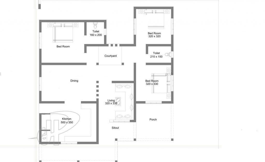 1450 Square Feet 3 Bedroom Modern Single Floor Home Design