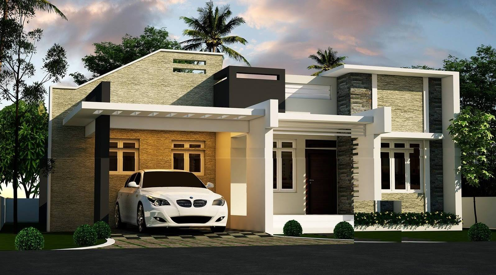 842 Square Feet 2 Bedroom Contemporary Modern Home Design and Plan