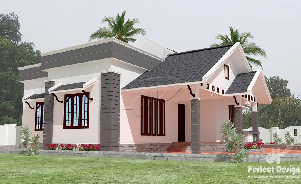 935 Square Feet 2 Bedroom Single Floor Home Design and Plan