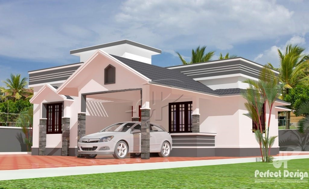 979 Square Feet 2 Bedroom Single Floor Home Design and Plan