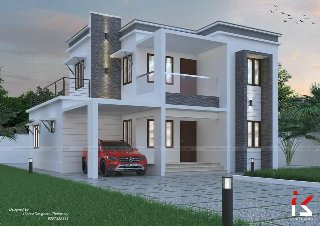 Modern Contemporary Two Story Beautiful Home Design And Plan
