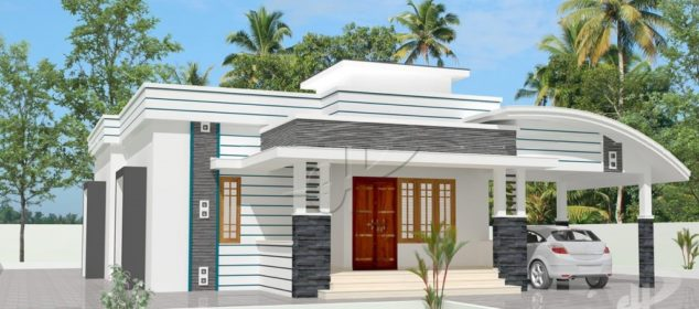 1183 Square Feet 2 Bedroom Low Budget Single Floor Home Design and Plan