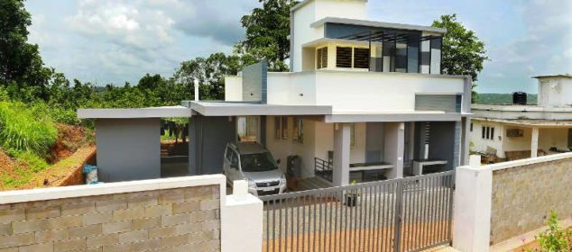 1438 Square Feet Double Floor Contemporary Modern Home Design and Plan