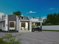 1773 Square Feet 3 Bedroom Single Floor Modern Home Design and Plan