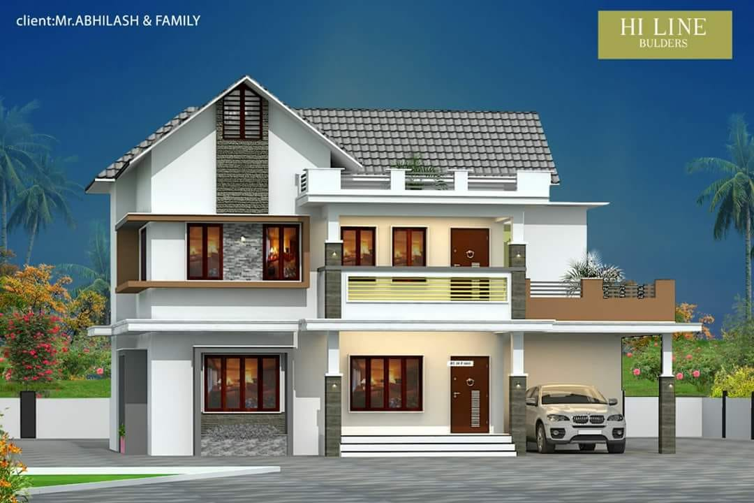 1650 Square Feet 4 Bedroom Double Floor Modern Home Design and Plan