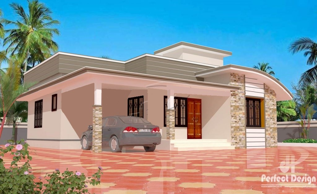 1025 Square Feet 2 Bedroom Single Floor Budget Home Design and Plan