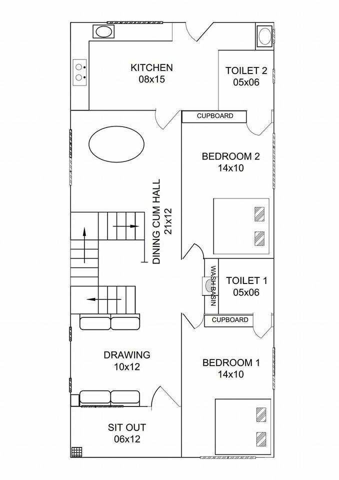 1050 Square Feet 2 Bedroom Single Floor Low Budget Home Design And Plan Home Pictures Easy Tips