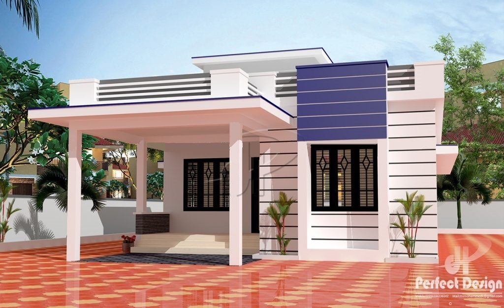 1055 Square Feet 2 Bedroom Single Floor Modern Beautiful Home Design and Plan