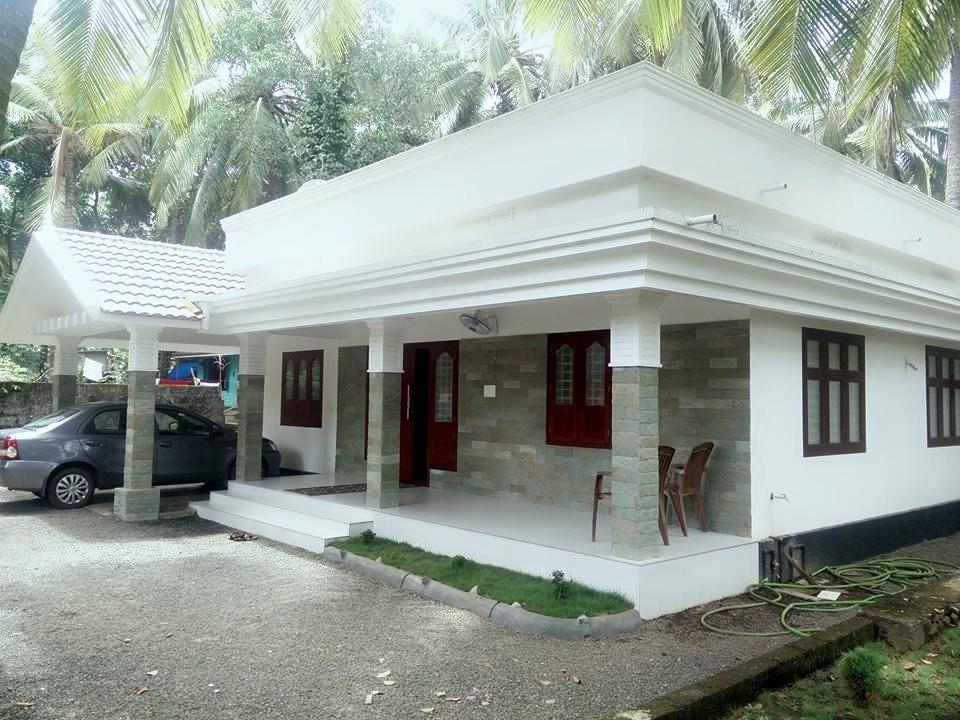 1068 Square Feet 2 Bedroom Single Floor Modern Home Design and Plan