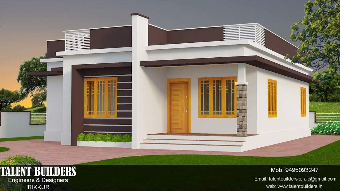 1115 Square Feet 2 Bedroom Single Floor Budget Home Design and Plan