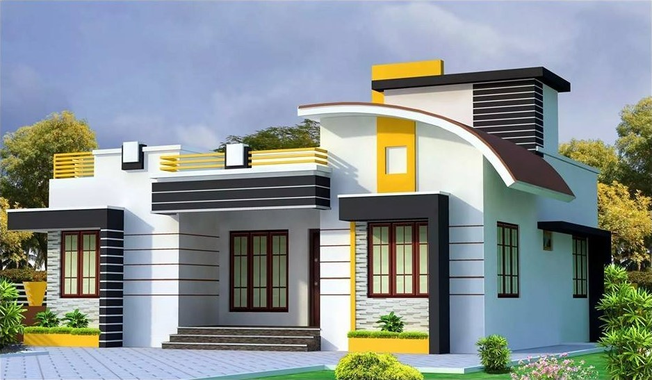 1167 Square Feet 3 Bedroom Single Floor Modern Home Design and Plan