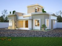 1168 Square Feet 3 Bedroom Single Floor Modern Contemporary Home Design and Plan
