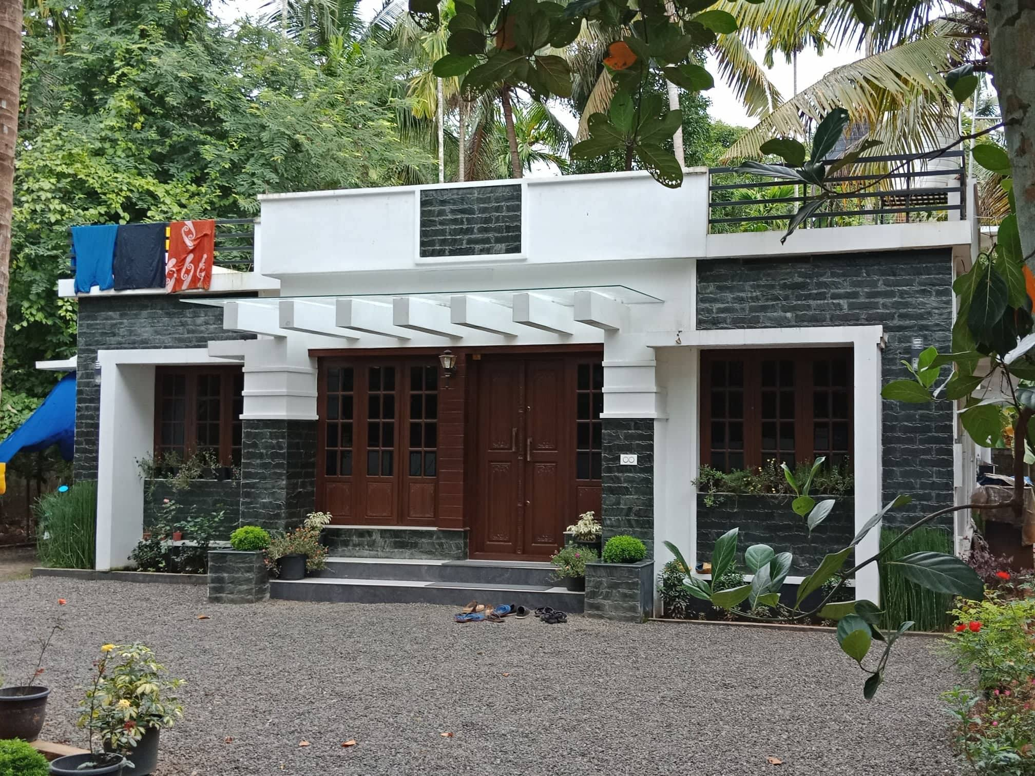 1235 Square Feet 3 Bedroom Contemporary Style Single Floor Modern Home Design and Plan