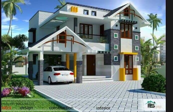 1681 Square Feet 3 Bedroom Double Floor Modern Two Story Home Design and Plan